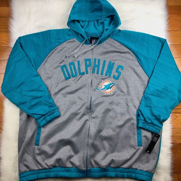 finest selection cfae5 1fd46 Miami Dolphins Men's Big Man Track Jacket 5XL NFL Boutique